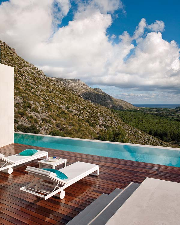 A House With A Beautiful View In Mallorca Spain