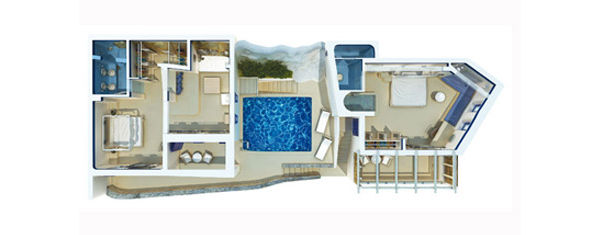 Vesta Mebel-Mykonos Blu villa 3 with pool Floorplan