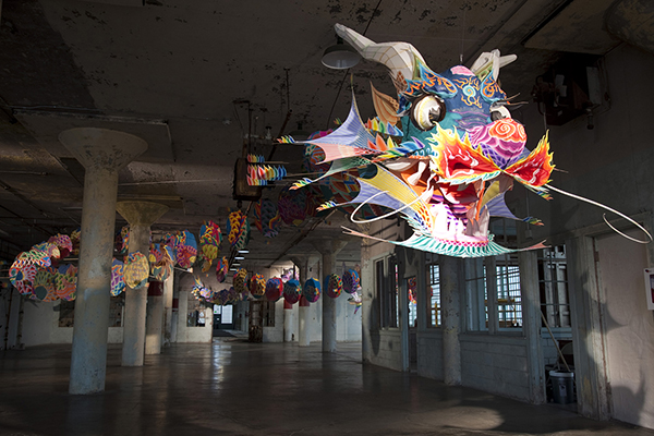 Ai Weiwei, With Wind, 2014 (installation view, New Industries Building, Alcatraz)