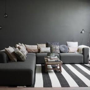 Елегантни нюанси на сивото в датска къща