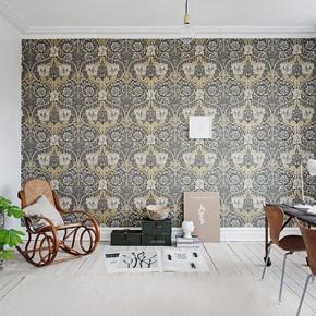 Шведски апартамент с тапет на цветя от Уилям Морис