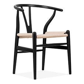 black wishbone chair Hans Wegner