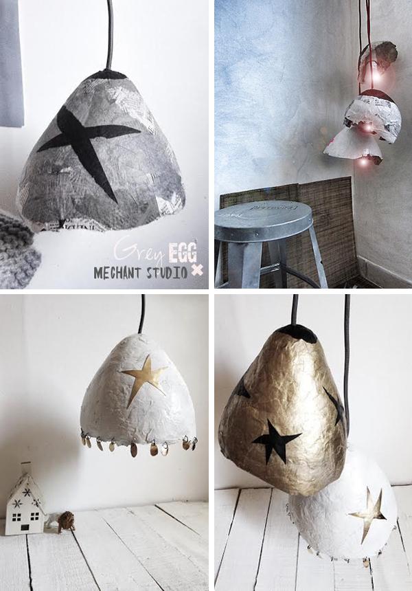 vesta mebel-mechant studio - lampi papier mache