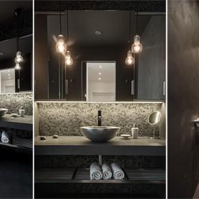 Тъмни дизайнерски бани от чешкото студио OOOX
