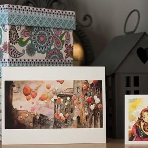 Красиви рисувани български картички