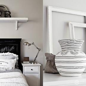 Финландски интериор в черно и бяло