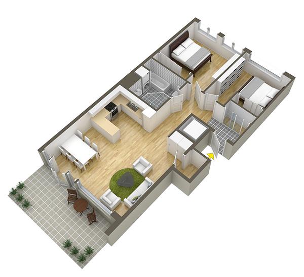 vesta mebel - 6vedski apartament 80 kv plan