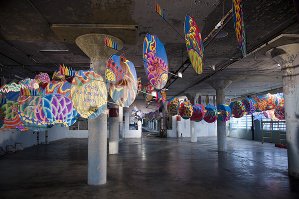 Ai Weiwei, With Wind, 2014 (installation detail, New Industries Building, Alcatraz)