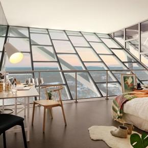 Впечатляващ апартамент на върха на ски-шанцата в Холменколен