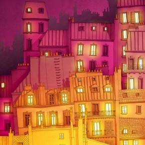 Шарени рисунки на Париж от немски архитект