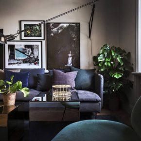 Тъмни нюанси в апартамент в Стокхолм